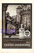 Parfum Farina Reklame 1930 Minnesang Ständchen Walter von der Vogelweide Balkon
