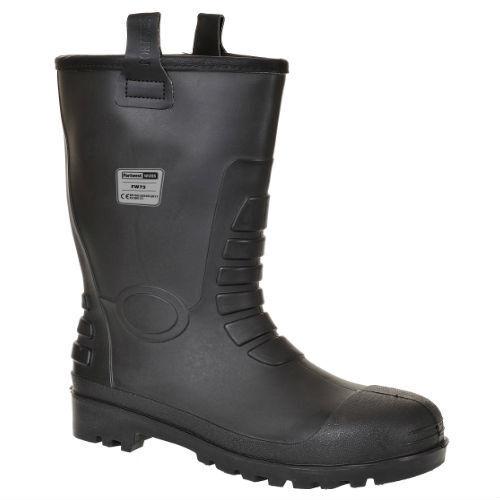 PORTWEST Neptune Rigger Boots S5 C1 Wellingtons Waterproof Steel Toe Cap FW75
