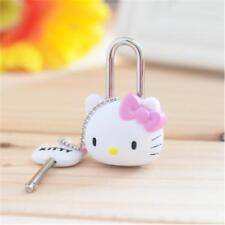 ea1315fed 1pcs Kawaii Pink Cartoon Hello kitty Lock Cat Multifunctional Mini Lock  with Key