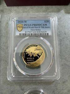 2020 End of World War II 75th Anniversary 24-Karat Gold Coin (20XG) PCGS PR69