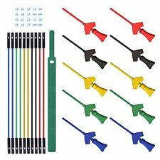 10 Pcs Mini Grabber Smd Ic Test Hook Clips Silicone Jumper Wires Test Leads Kit