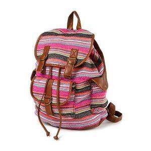 Stripe Textured SchoolNwt Multi Bag Backpack Book Shoulder Color OPkTlwiuZX