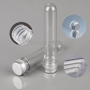 1-10Pcs-Plastic-Clear-Makeup-Bottle-Test-Tubes-Sample-Perfume-Lid-Dispenser-45ML