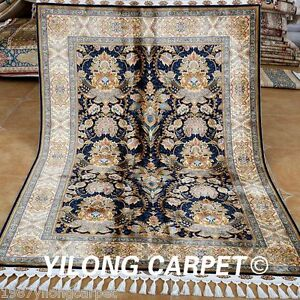 Yilong-4-3-039-x6-6-039-Old-Handmade-Silk-Rug-Classic-stunning-Hand-Knotted-Carpet-1776