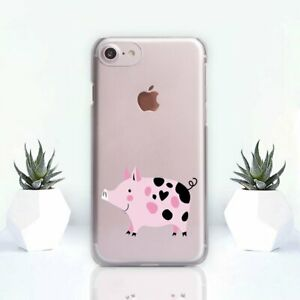 Pig-iPhone-XS-XR-Cover-Animal-Print-iPhone-11-Pro-Max-Case-Clear-iPhone-7-8-Plus