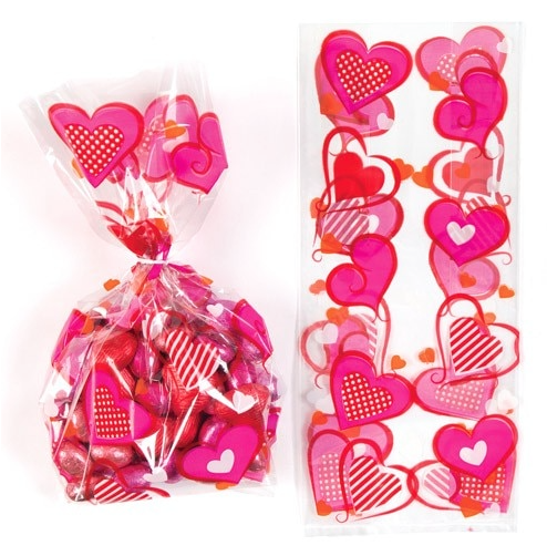 Ribbon Present Cello Gift Happy Valentine/'s Day Sweet Cone Box Filler