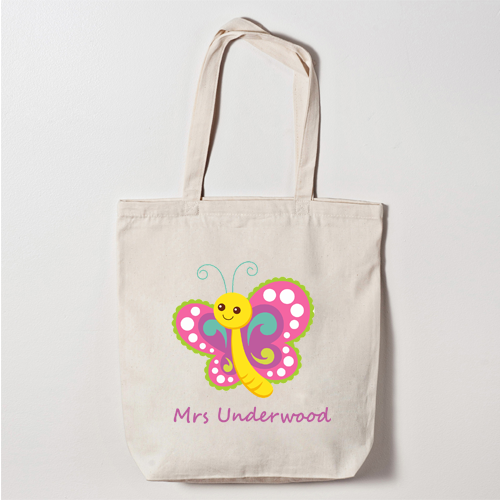 Personalised Canvas Tote Bag Thank You Teacher Butterfly School Leaving  Gift DEA for sale online  8f69bcc36edb