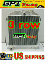 1932 32 Ford Chopped Ford Engine At 64mm 3 Core Aluminum Radiator