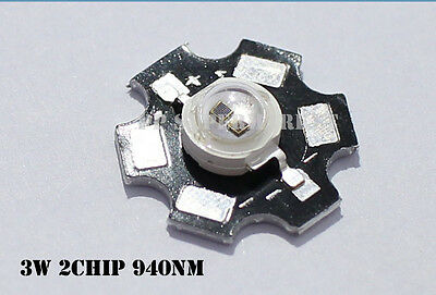 5pcs 3w 940nm infrared IR LED for night vision camera with 20mm Star PCB