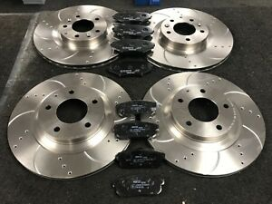 FOR-MAZDA-RX8-DRILLED-GROOVED-BRAKE-DISCS-amp-MINTEX-PADS-FRONT-REAR