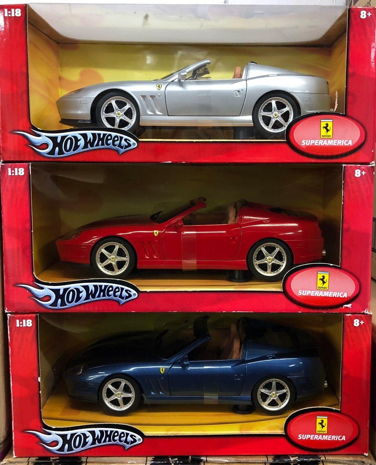Lote de 3 Modelos base Ferrari 575 Superamerica Rojo, Plata y Azul Envío Gratis