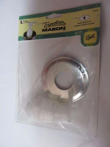 NEW Ball Mason Jar Soap Pump Insert Kit #1026302  Fits regular mouth jar
