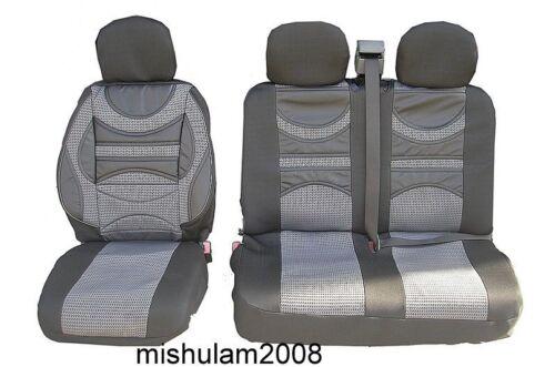 2+1 Grau Premium Gepolsterte Sitzbezüge Schonbezüge für 2+1 für FIAT DUCATO