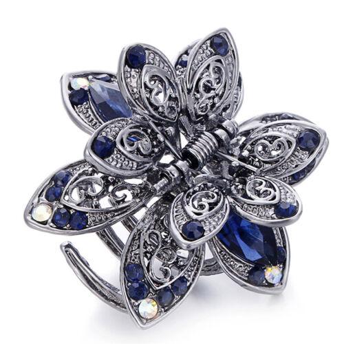 Crystal Hair Clip Rhinestone Hairpin Claw Clamp Wedding Hair Accessories Gut