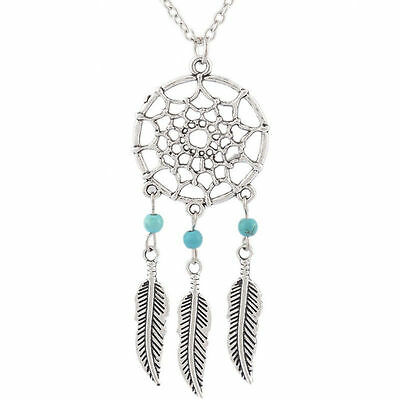 Dream Catcher Necklace Dreamcatcher with Feathers Pendant UK Stock