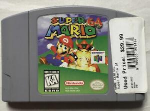 Juego De Super Mario 64 Auténtico Original Para Nintendo N64 probado Raro N64-23R