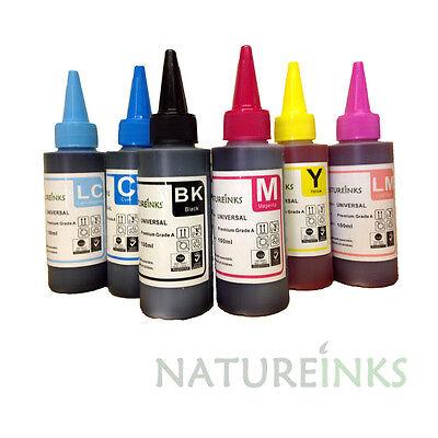 600ml Natureinks Refill Premium Ink dye Bottle kit for empty printer Cartridges