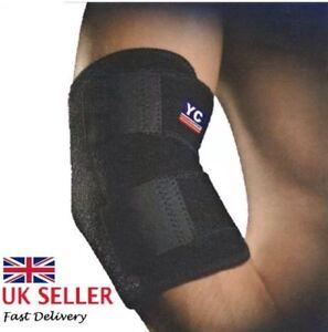Elbow-Support-Black-Neoprene-Adjustable-Tennis-Arthritis-Strap-Brace-YC-NHS-Use