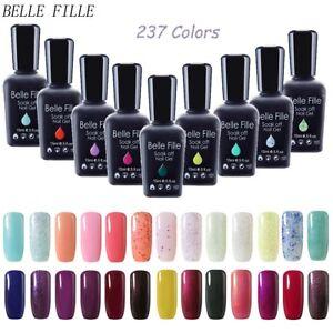 BELLE-FILLE-Nail-Art-Gel-Color-Polish-Soak-off-UV-LED-Manicure-DIY-Varnish-15ml