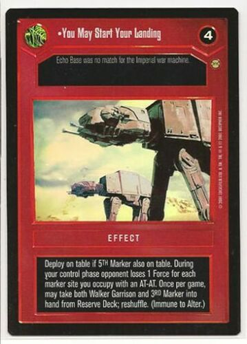 Star Wars CCG Reflections III Ref III Foil VRF You May Start Your Landing
