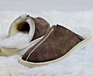 New-Hand-Crafted-Mens-Genuine-Sheepskin-Nonslip-Mule-Slippers-100-Just-Real-Fur