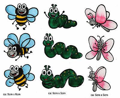 window color bild fensterbild fenstersticker würmli schmetterlinge bienen 129   ebay