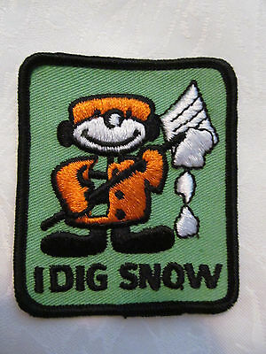 Vintage 1970/'s  Trucker Hat Hippie Jacket Patch I DIG SNOW B