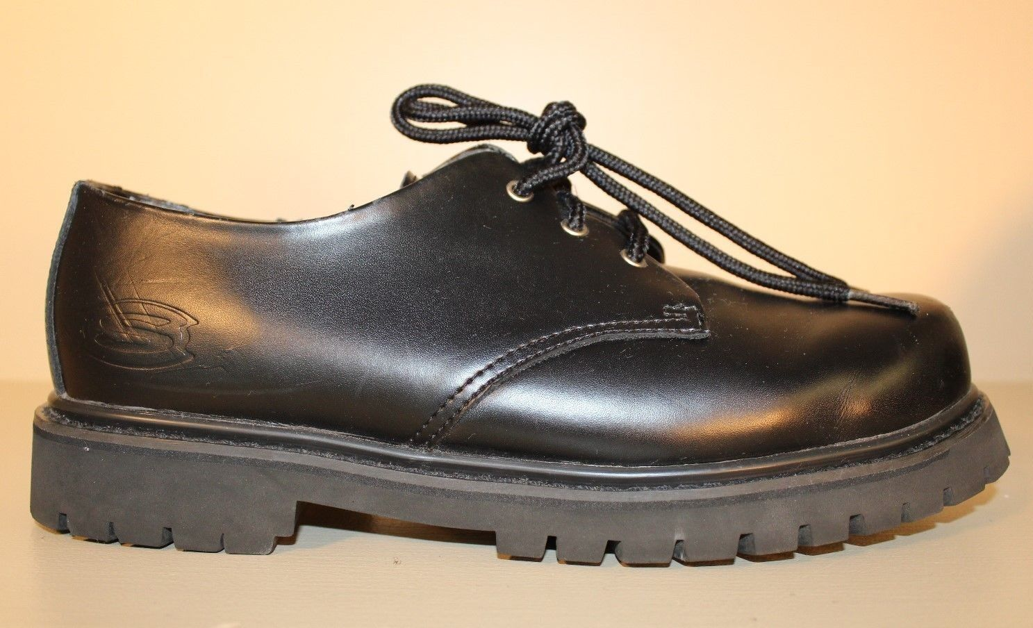 Skechers Mens Oxford shoes Sz 8 M   41 Black Leather Casual Work Lace Up SN6626