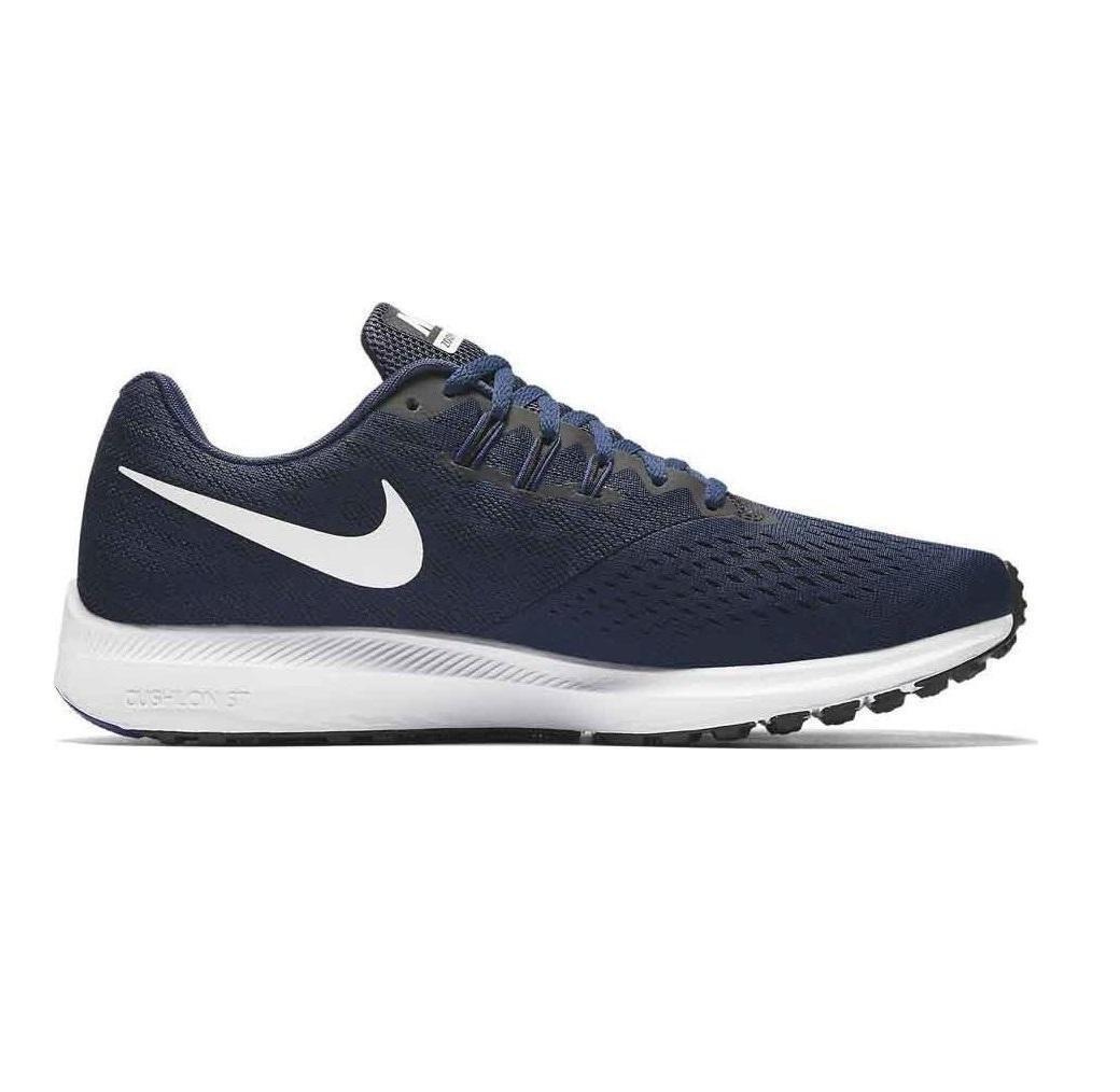 Herren Nike Zoom Winflo 4 Binary Blau Laufschuhe 898466 400