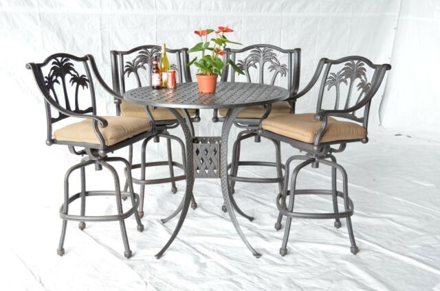 Palm Tree Outdoor Patio Furniture 5pc, Palm Tree Furniture