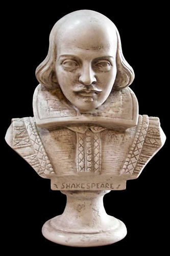 William Shakespeare Sculpture Display or desk top Taille