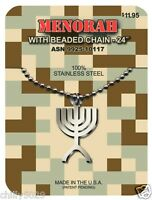 Gi Jewelry Official Us Military Judaica Menorah Pendant