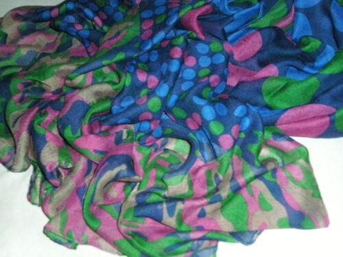 180cm x 110cm Bnwt-long-doux châle écharpes-cercle//spot//camouflage design-taille