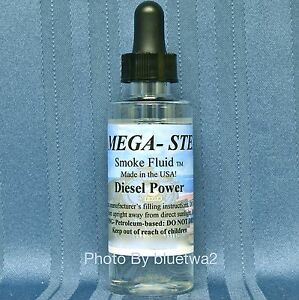 Mega Steam DIESEL POWER  Smoke Unit Fluid For Lionel O G HO N Train Stone Paint