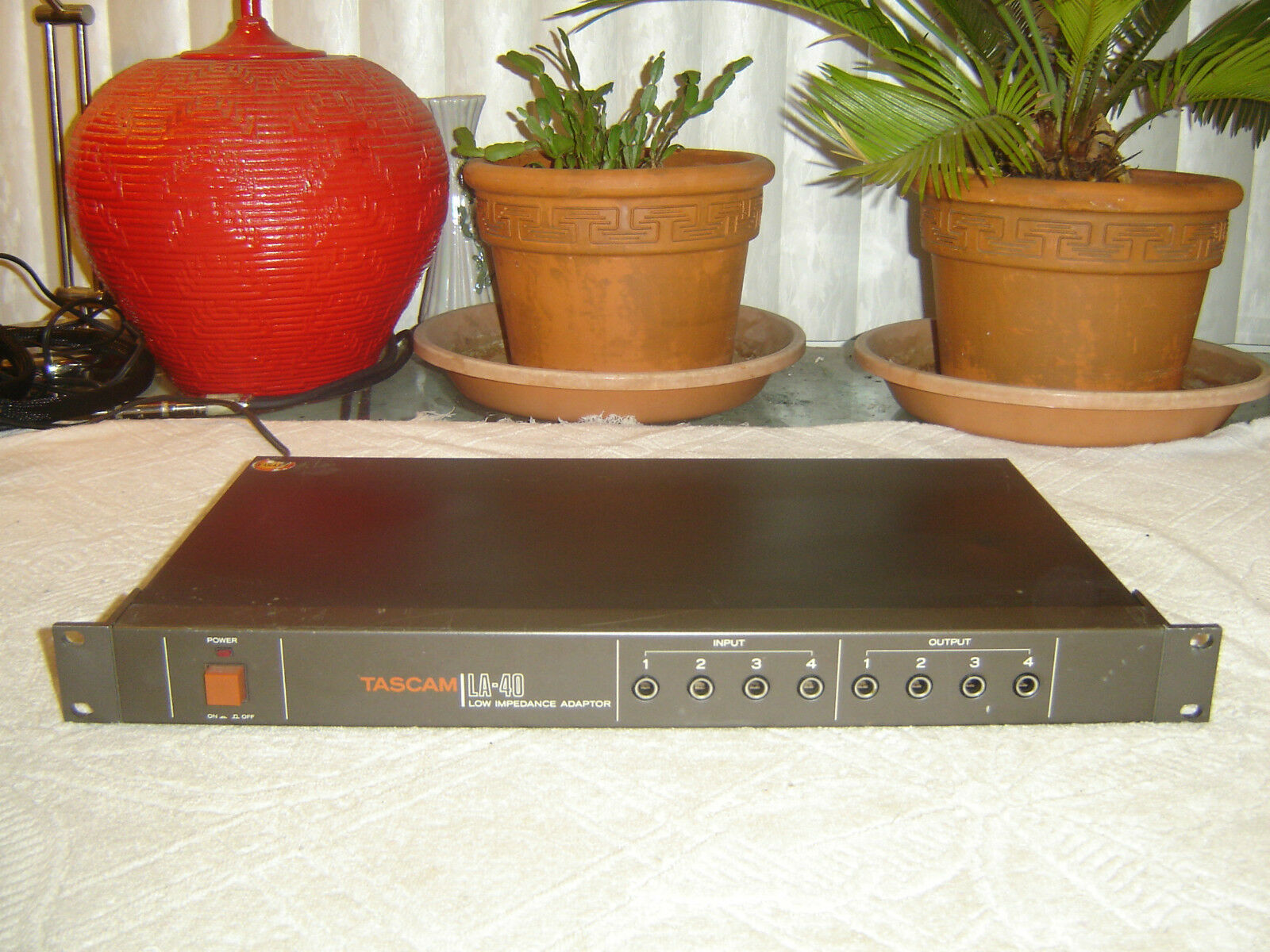 Tascam LA-40, Low Impedance Adapter, Vintage Rack, Repair or As Is