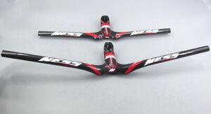 carbon-road-MTB-handlebar-Bicycle-Riser-Flat-Bar-58-72cm-integrated-Bar-stems