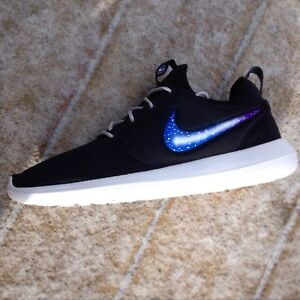 70a12d4c5f1e Image is loading Custom-Nike-Roshe-Two-Sneakers-Galaxy-Roshes-Mens-