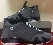 Nike Air Jordan XIV 14 Retro Light Graphite/Navy Black Hoyas 311832-011 Sz 10