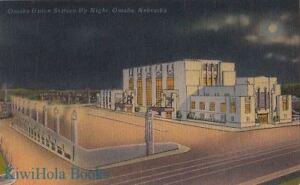 Postcard-Omaha-Union-Railroad-Station-Night-Omaha-Nebraska-NE