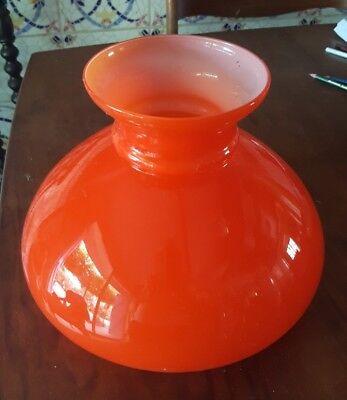 ANCIEN Vasque coupole Bowl lamp OPALINE ORANGE SUSPENSION LUMINAIRE | eBay