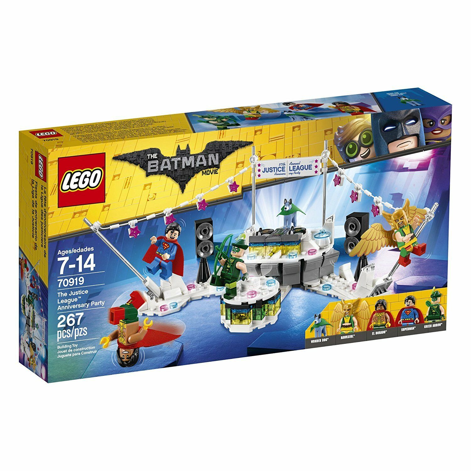 LEGO 70919 - The Batman Movie - Justice League Anniversary Party - NEW