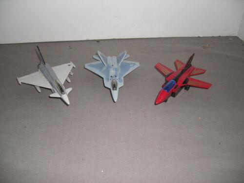 Lot of 3 Diecast Airplanes Matchbox Tornado #6072, YF-22