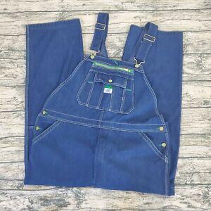 Liberty-Men-039-s-Stonewashed-Denim-Bib-Overalls-Farmer-Size-42x30-Cotton