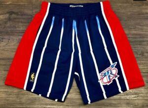 d7c71dfdb62 Navy Blue Houston Rockets Mitchell   Ness NBA Men s Swingman Shorts ...