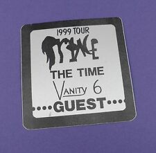 Prince with The Time and Vanity 6 - Backstage Pass - 1999 Tour 1983 Unused !