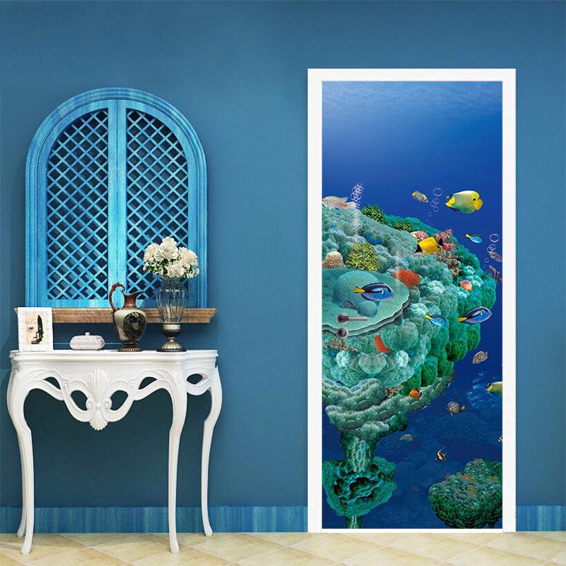 3D Tiefsee 5 Tür Mauer Wandgemälde Foto Wandaufkleber AJ WALL DE Lemon