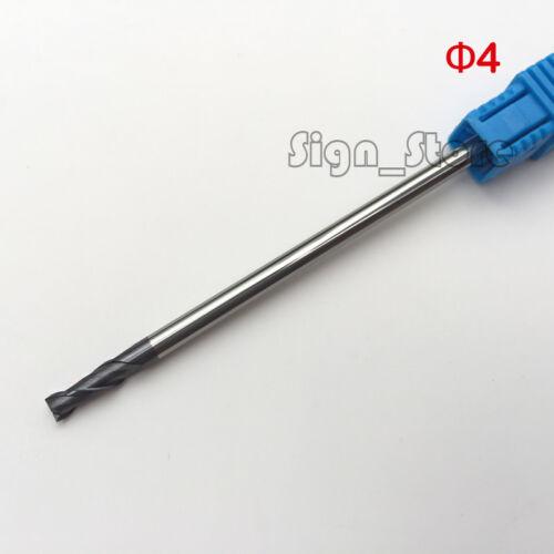 4pcs 2F D4 Long Flute HRC55 carbide end mill bit CNC milling cutter 4*4*10*75mm