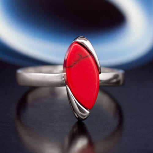Koralle plata 925 anillo Sterling plata señora joyas diferentes tamaños r0454
