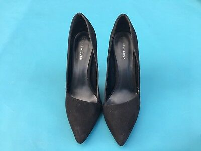 New Look Women Black Suede Shoes Size 6