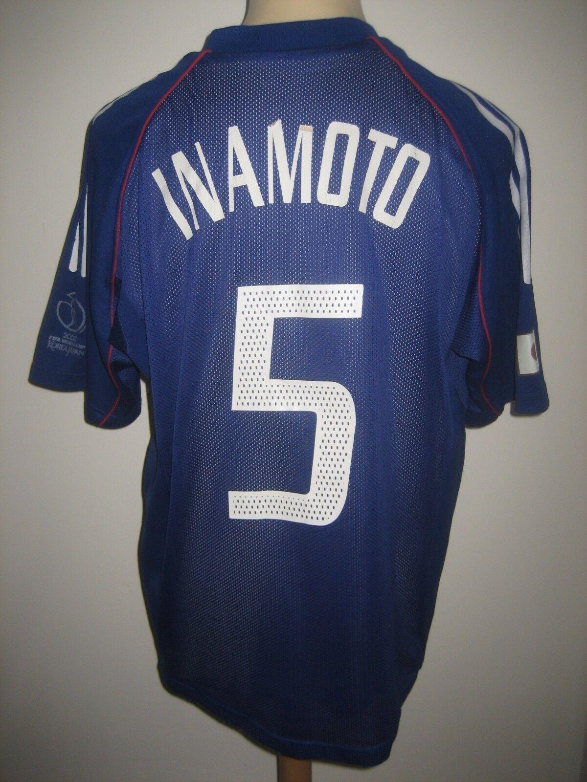 Japan MATCH WORN Inamoto football shirt soccer jersey trikot maillot Talla L